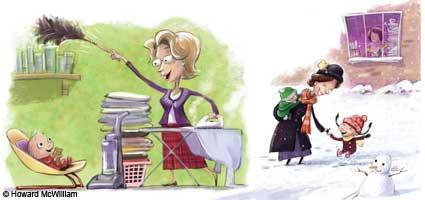 Mary Poppins and Mrs Doubtfire