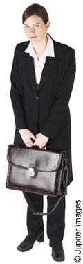 Teacher with briefcase