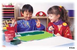 Children express themselves during creative play