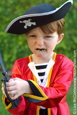 child dressed up as pirate