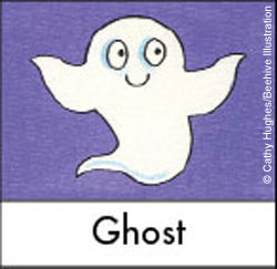 Illustration of a friendly ghost