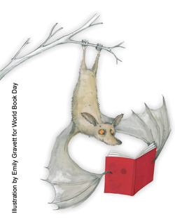 Bat reading for World Book Day